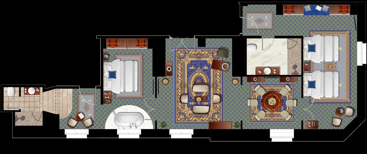 Da Vinci Suite alaprajz - Mystery Hotel Budapest