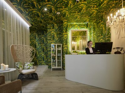 The Secret Garden Spa reception - Mystery Hotel Budapest