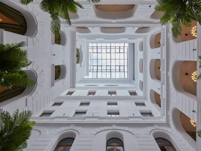 Glass ceiling - Mystery Hotel Budapest